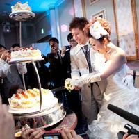 2人の幸せをおすそ分け☆ケーキ入刀