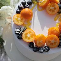 オレンジを使ったフレッシュなケーキ