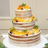 【生ウェディングケーキ】ネイキッドケーキ