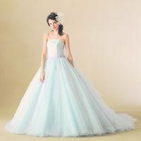 爽やかなブルーのカラードレス♪