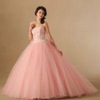キュートなピンクのカラードレス♡