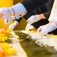 みんなで幸せを願って♪ 巻き寿司セレモニー♪