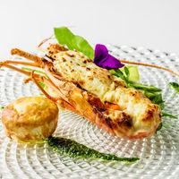 ロブスターのテルミドール 白味噌風味と魚介の シャンピニオン・ド・パリ