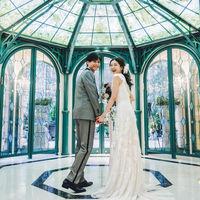 洋館エントランスは、南フランス5つ星ホテルロビーがモチーフの8角形のガラスのアトリウムがお出迎え。
