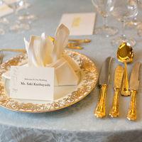 学士会館で永く受け継がれているゴールドの食器