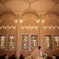 花嫁姿が映える壮麗な大聖堂。