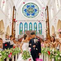 憧れの大聖堂でゲストからもたくさんの祝福を
