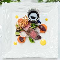 Viande[豪州産熟成短角牛フィレ肉のポワレ カフェドパリバターをのせて 温野菜それぞれの調理法で]