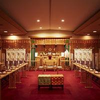 【ホテル内神殿】箱根神社の大神様をお奉りするホテル内神前式