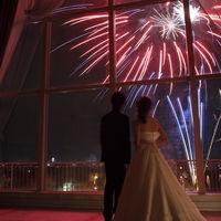 バンケッド会場のセミヨンからは、ガトーキングダムならではの演出である60発の打上花火を堪能できます!
