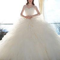 プリンセスラインのドレスは思いっきりかわいく仕上がります♪