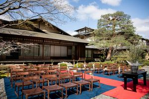 東山・二寧坂の隠れ家邸宅での庭園挙式