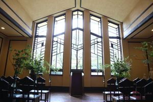 大きな窓が特徴的な「セレモニーホール」