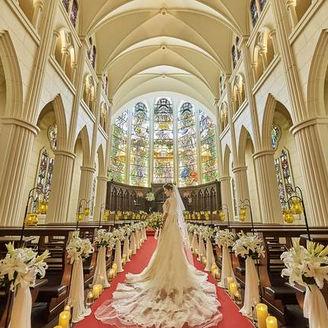 首都圏最大級◇18mの天井高を誇る本格ステンドグラス大聖堂