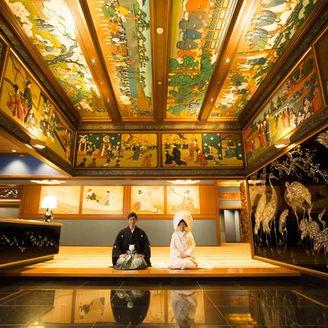 豪華絢爛な和室披露宴会場玄関はホテル雅叙園東京で人気No.1のスポットです。