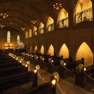 ヨーロッパの教会をモチーフにした「サンタ・アンジェリ大聖堂」