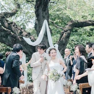 樹齢120年の桜大樹に見守られる、森のひだまり結婚式