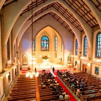 1962年に建立された東海最大のカトリック教会です。
