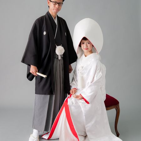 和装 白無垢 綿帽子 紋付袴 スタジオ