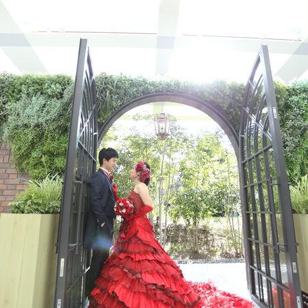 ドレス カラードレス タキシード ロケーション フォトウェディング 庭園