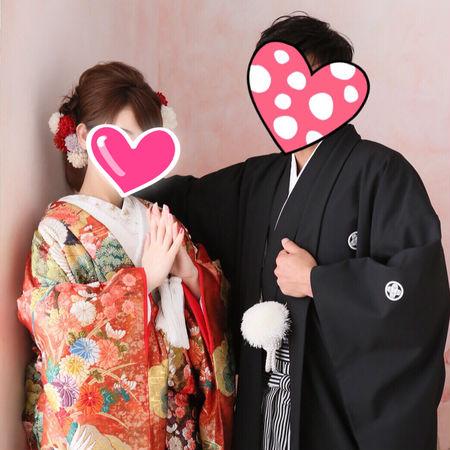 和装 スタジオ 色打掛け 紋付袴
