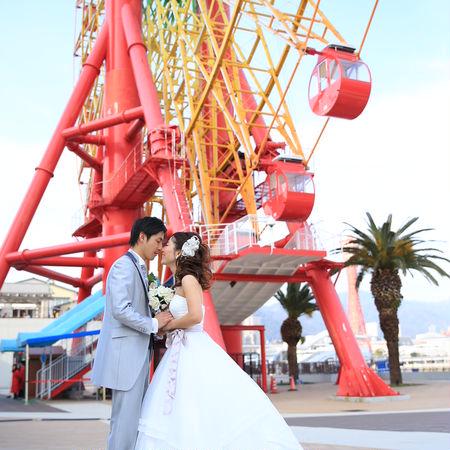 観覧車 ロケーション 海 観光地 神戸 ドレス ウェディングドレス タキシード ハーバーランド