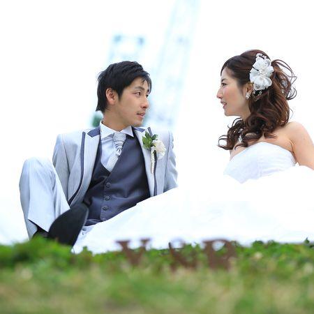 ロケーション 海 観光地 神戸 ドレス ウェディングドレス タキシード ハーバーランド