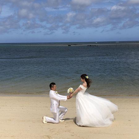 ドレス タキシード ロケーション 海 ビーチ