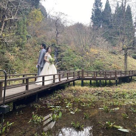 ドレス ロケーション ウェディングドレス タキシード 紅葉