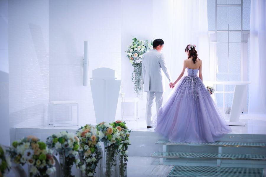 チャペル ドレス カラードレス タキシード