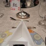 開演前のテーブルです