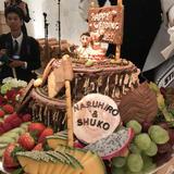 フルーツたっぷり「切り株」のケーキ!