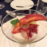 前菜。オマール海老のパフェ