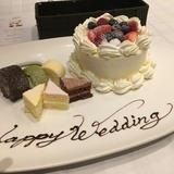 試食のケーキです。