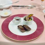 試食用の岡山県産牛ロース肉