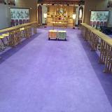 紫色の絨毯。他の会場は赤なので新鮮です。