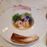 前菜、海鮮とジュレのドレッシング
