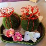 受付で飾りたい苔玉リングピロー