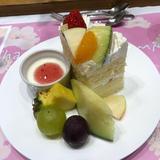 ケーキがカットされてきたものとても可愛い