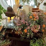 高砂周りのお花と装飾!