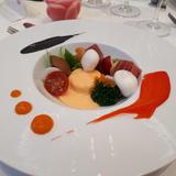 魚介類と野菜のムース
