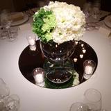試食時のテーブル装花