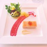 前菜です。綺麗で美味しかった。