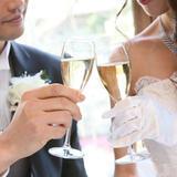 乾杯のシャンパン