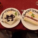 新郎新婦用のケーキ