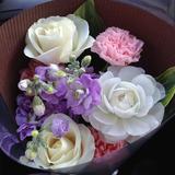 体験で頂いた花束