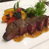 京野菜と近江牛のメインディッシュ