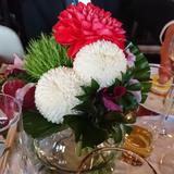和装をイメージした装花
