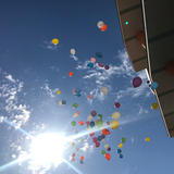 オーシャンビューに飛ぶ風船は素敵でした