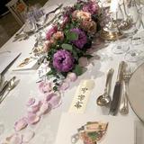 テーブル装花中央